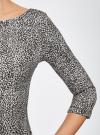 Платье трикотажное принтованное oodji #SECTION_NAME# (серый), 14001150-3/33038/1229A - вид 5