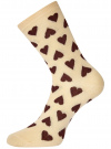 Комплект высоких носков (3 пары) oodji #SECTION_NAME# (разноцветный), 57102902T3/47469/44 - вид 3