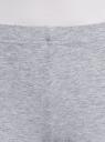 Легинсы трикотажные с надписью oodji для женщины (серый), 18700028-8/46159/2023Z