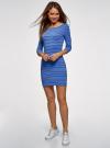 Платье трикотажное базовое oodji для женщины (синий), 14001071-2B/46148/7079S - вид 2