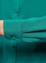 Блузка базовая из вискозы oodji #SECTION_NAME# (зеленый), 11411136B/26346/6D00N - вид 5