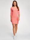 Платье трикотажное базовое oodji для женщины (красный), 14001071-2B/46148/4310S - вид 2