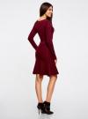 Платье вязаное с расклешенным низом oodji для женщины (красный), 63912223/46096/4900N - вид 3