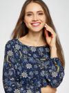 Платье из шифона с ремнем oodji для женщины (синий), 11900150-5B/32823/7975F - вид 4