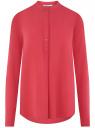 Блузка вискозная А-образного силуэта oodji #SECTION_NAME# (розовый), 21411113B/42540/4D01N