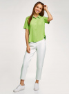 Блузка вискозная с короткими рукавами oodji #SECTION_NAME# (зеленый), 11411137B/14897/6B00N - вид 6