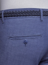 Брюки-чиносы с плетеным ремнем oodji для мужчины (синий), 2L150140M/48237N/7800O