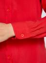 Блузка базовая из вискозы oodji #SECTION_NAME# (красный), 11411136B/26346/4500N - вид 4