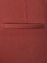 Брюки зауженные с молнией на боку oodji для женщины (коричневый), 21706022-5B/35589/4900N