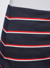 Юбка прямая в полоску oodji #SECTION_NAME# (синий), 24101048-3B/37809/7945S - вид 5
