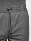 Шорты хлопковые на эластичном поясе с завязками oodji #SECTION_NAME# (серый), 2L710020M/44213N/2300N - вид 4