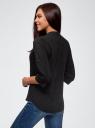 Блузка вискозная с нагрудными карманами oodji #SECTION_NAME# (черный), 11403225-7B/42540/2900N - вид 3