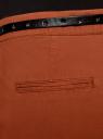 Брюки-чиносы с ремнем oodji для женщины (коричневый), 11706190-5B/32887/3100N