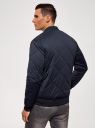 Куртка-бомбер на молнии oodji #SECTION_NAME# (синий), 1L111031M/47669N/7900N - вид 3