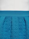 Юбка из фактурной ткани на эластичном поясе oodji #SECTION_NAME# (синий), 14100019-3/46005/7500N - вид 4