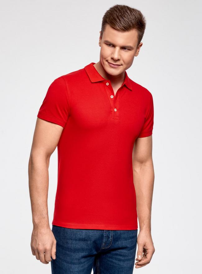 Сорочка верхняя трик. мужская oodji #SECTION_NAME# (красный), 5B422001M/44032N/4500N