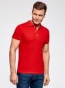 Сорочка верхняя трик. мужская oodji #SECTION_NAME# (красный), 5B422001M/44032N/4500N - вид 2