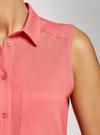 Топ вискозный с нагрудным карманом oodji для женщины (красный), 11411108B/26346/4300N - вид 5