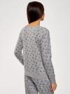 Свитшот принтованный с круглым вырезом oodji для женщины (серый), 14807021-1/46919/2329O - вид 3