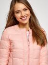 Куртка стеганая с круглым вырезом oodji для женщины (розовый), 10203050-2B/47020/4001N - вид 4