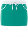 Юбка мини на завязках oodji для женщины (бирюзовый), 16801025-2/43042/7312B