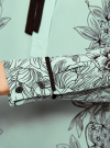 Блузка свободного силуэта с завязками oodji #SECTION_NAME# (бирюзовый), 21411094-1/36215/6529F - вид 5