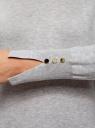 Платье базовое из вискозы с пуговицами на рукаве oodji #SECTION_NAME# (серый), 73912217-1B/33506/2000M - вид 5