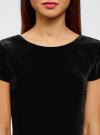 Платье миди с вырезом на спине oodji #SECTION_NAME# (черный), 24001104-8B/48621/2900N - вид 4