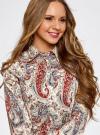 """Рубашка хлопковая с принтом """"пейсли"""" oodji #SECTION_NAME# (слоновая кость), 21402212-1/45966/3045E - вид 4"""