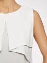 Топ из легкой струящейся ткани oodji для женщины (слоновая кость), 11400425-3/45287/1200N