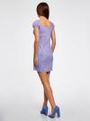 Платье хлопковое со сборками на груди oodji #SECTION_NAME# (фиолетовый), 11902047-2B/14885/8010S - вид 3