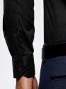 Рубашка приталенная с воротником-стойкой oodji #SECTION_NAME# (черный), 3L140115M/34146N/2900N - вид 5