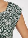 Платье принтованное из вискозы oodji #SECTION_NAME# (зеленый), 11910073-2/45470/6E12F - вид 5