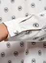 Блузка прямого силуэта с отложным воротником oodji #SECTION_NAME# (белый), 11411181/43414/3029U - вид 5