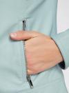 Куртка из искусственной кожи с металлическими стразами oodji #SECTION_NAME# (синий), 18A04010/46542/7000N - вид 5