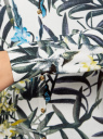 Жакет вязаный с цветочным принтом oodji #SECTION_NAME# (слоновая кость), 73212400/45755/1219F - вид 5