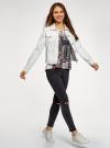 Куртка джинсовая oodji для женщины (белый), 11109037/49348/1000N - вид 6