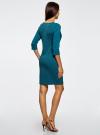 Платье трикотажное из фактурной ткани oodji #SECTION_NAME# (синий), 24001100-6/45351/7400N - вид 3
