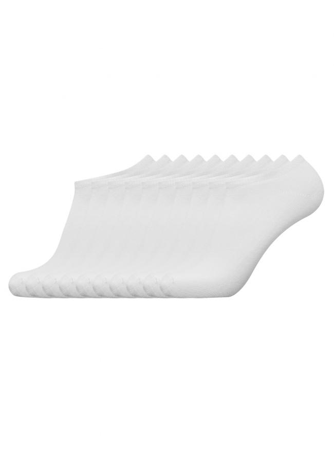 Комплект из десяти пар носков oodji для мужчины (белый), 7B201000T10/47469/1000N