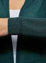 Кардиган легкий без застежки oodji для женщины (зеленый), 29201001/45723/6C29M