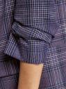 Жакет без застежки с рукавом 3/4 oodji для женщины (синий), 11207010-13B/50161/7441C