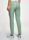 Брюки-чиносы хлопковые oodji для женщины (зеленый), 11706214/49251/6200N