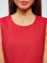 Платье льняное без рукавов oodji #SECTION_NAME# (розовый), 12C00002-1B/16009/4D00N - вид 4