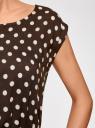 Платье принтованное из вискозы oodji #SECTION_NAME# (коричневый), 11910073-2/45470/3912D - вид 5