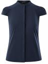 Рубашка реглан с воротником-стойкой oodji #SECTION_NAME# (синий), 13K03006-1B/26357/7900N