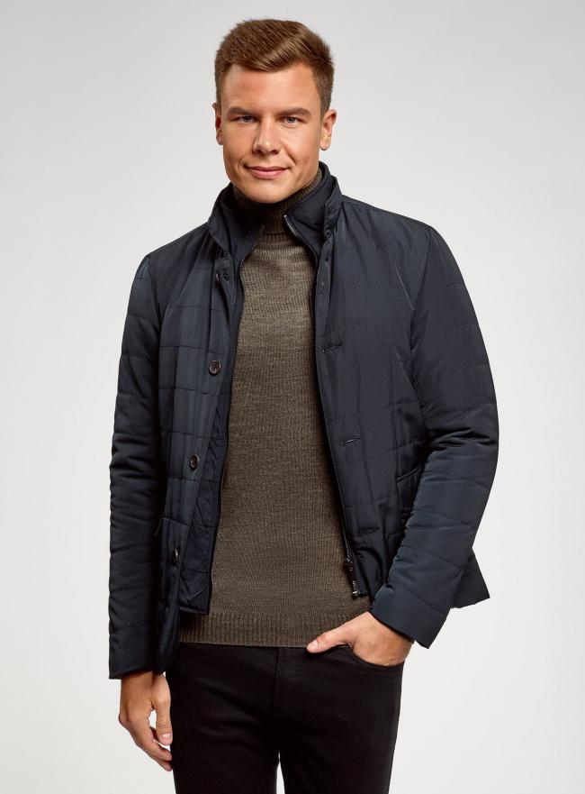 Куртка жакетного типа с карманами oodji для мужчины (синий), 1L111029M-1/47432N/7900N