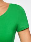 Футболка базовая приталенная oodji #SECTION_NAME# (зеленый), 14701005-7B/46147/6A00N - вид 5