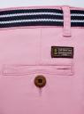 Шорты хлопковые с ремнем oodji #SECTION_NAME# (розовый), 12807089/48153/8000N - вид 5