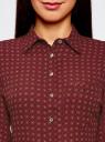 Блузка принтованная из шифона oodji #SECTION_NAME# (красный), 11400394-5/36215/4959G - вид 4