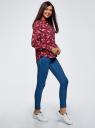 Блузка базовая из вискозы oodji для женщины (красный), 11411136B/26346/3112F